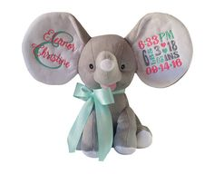 Personalized Cubbies Dumble Elephant New Born Baby Gift