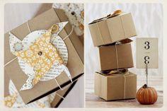 autumn favor boxes