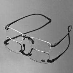 1326c5fb0b Stylish Fashion Comfortable Design Book Map Menu Rimless Frameless Reading  Presbyopic Glasses Clear Eye Glasses with Case