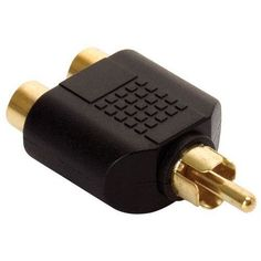 RCA Y Splitter 1 Male Plug to 2 Female Jack Adapter Audio Cable Converter