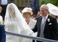 Lady Sarah McCorquodale (Sister of Princess Diana) at her daughters wedding!