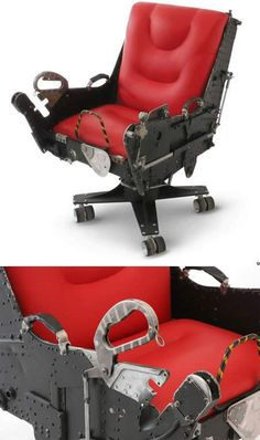 From fighter jet's pilot seats to airplane wing desks, 10 impressive furniture made from Old Airplane Parts. Motorart is a creative company, that recycles engineering components of airplanes and turn it into functional works of art. Diy Furniture Chair, Cheap Patio Furniture, Metal Furniture, Unique Furniture, Furniture Making, Urban Furniture, Aviation Furniture, Aviation Decor, Creative Company