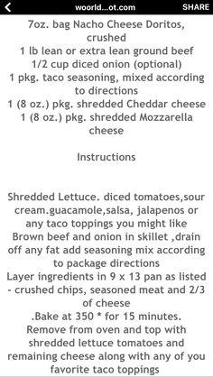 Nacho Cheese, Cheddar Cheese, Food Tips, Food Hacks, Doritos, Taco Seasoning, Mozzarella, Ground Beef, Main Dishes