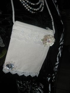 Lace and Canvas Gypsy Girl Bags /Great for by goodythings on Etsy