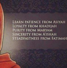 Great women in Islam