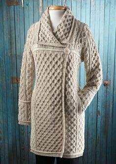 Honeycomb Sweater Coat | Acorn Online