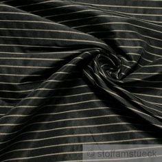 Stoff Polyester Baumwolle anthrazit Streifen beige Vorhangstoff fest Still Life, Detail, Ebay, Stripes, Ideas, Cotton