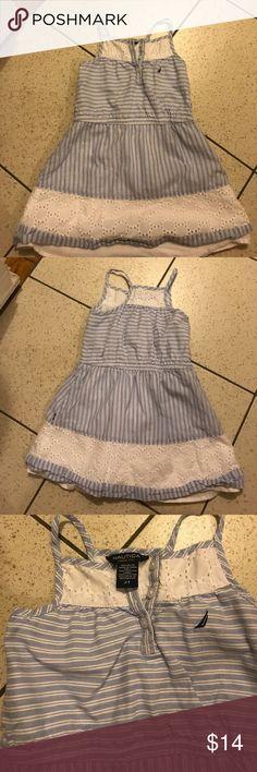 Nautica toddler dress Blue and white toddler girl dress. Never worn. Nautica Dresses Casual