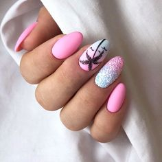 The most popular nail design in hot summer is palm tree nail art design. Palm and coconut trees are hard to tell apart, and we don't need to tell them apart. We just need to know that it's never wrong to use Palm Tree nail art designs in summer. Summer Acrylic Nails, Cute Acrylic Nails, Summer Nails, Cute Nails, My Nails, Nail Ideas For Summer, Summer Vacation Nails, Smart Nails, Glow Nails