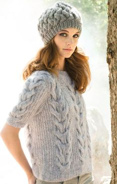 LANA GROSSA Filati Accessoires 11 Modelle 35 & 36: Pullover (Woolhair) & Mütze (Fiore)