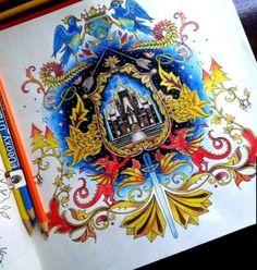 Coat Of Arms Castle Enchanted Forest Brasao Castelo Floresta Encantada Johanna Basford