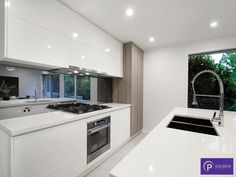 Palmerston Street, Berwick, Vic View property details and sold price of Palmerston Street & other properties in Berwick, Vic Classic White Kitchen, Modern Kitchen Design, Home And Living, Kitchen Ideas, Home Improvement, Kitchens, Interiors, Bathroom, House