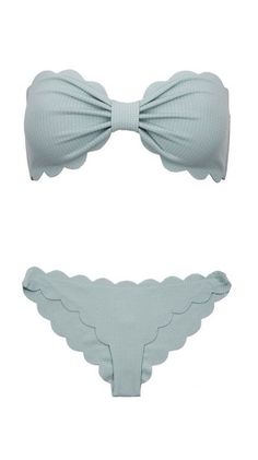 Seafoam Scalloped Bikini-love this color would look so cute on you Summer Of Love, Summer Wear, Summer Outfits, Cute Outfits, Spring Summer, Scalloped Bikini, Scalloped Edge, Boho Chic, Cute Bathing Suits