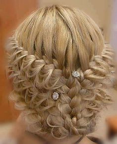 Cool braided updo {Photo courtesy of Hair & Makeup by Steph} Up Hairstyles, Pretty Hairstyles, Braided Hairstyles, Wedding Hairstyles, Amazing Hairstyles, Unique Hairstyles, Hairstyle Braid, Bridesmaid Hairstyles, Bridal Hairstyle