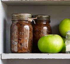 Studded with walnuts and stem ginger, this pickle is delicious on a cheeseboard or with cold meats, plus it makes a great gift Chutney Recipes, Jam Recipes, Cooking Recipes, Easy Apple Chutney Recipe, Recipies, Curry Recipes, Vegan Recipes, Chutneys, Ketchup