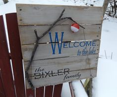 Welcome to the Lake Sign Handmade Rustic Lake by OurWoodsCreations