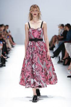 FLUER DRESS , Pink,Black,Ivory Cabbage Rose French Organza