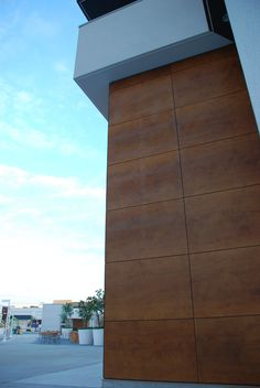 Project: High Street Mall Location:Vancouver, BC Product: Parklex Wood Veneer Facade in Copper & Onix Architect: MCMP