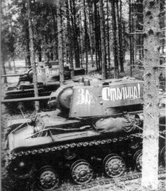 Enscription on a KV-1 tank: For Stalin. Credit: https://m.facebook.com/Soviet.Tanks.of.WW2/