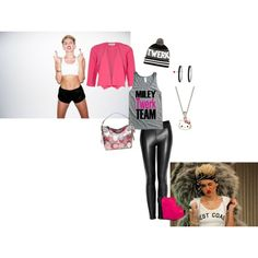 """miley cyrus inspired outfit"" by courtney360 on Polyvore"