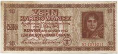 10 Karbowanez 1942 (Bäuerin)  Ukraine Reichskommissariat Ukraine