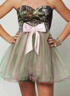 Cute camo pink party dress! Country Girl Love.!