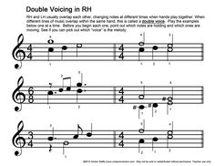 Double Voicing practice exercises for RH