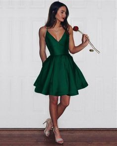 Item Description : Simple But Elegant V-neck Satin Short Dresses For Prom,evening,formal,engagement or any other special occasions! color available in:burgundy,royal blue,navy blue,emerald green,black Size Chart: Dresses Process Time: 7 to 12 days Customized :Yes Shipment Method: DHL,Fedex,Aramex Delivery Time: 3 to Semi Dresses, Grad Dresses Short, Hoco Dresses, Dance Dresses, Semi Formal Dresses For Teens, Elegant Dresses, Wedding Dresses, Bridal Gowns, Graduation Dresses