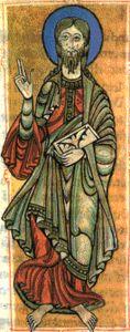 El apóstol Santiago el Mayor en una ilustración del Codex calixtinus conservado en el archivo de la catedral de Santiago de Compostela