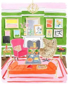 bright walls and furniture