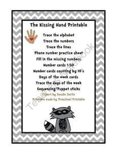 photograph relating to Kissing Hand Printable known as Kissing Hand Reserve Designs Printables
