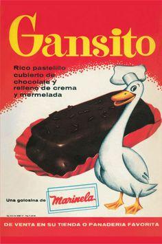 El Gansito de BIMBO nació en 1957!!! un poco perturbadora la caricatura.