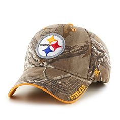 NFL Pittsburgh Steelers '47 Frost MVP Camo Adjustable Hat, One Size Fits Most…