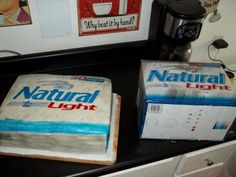 Natty Light By Ambrosiaca on CakeCentral.com
