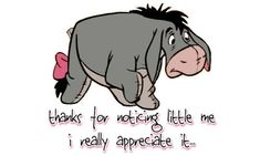 It is not until the family member removes their Eeyore-glasses, that they will be able to see the truth. Description from princesswarriorlessons.com. I searched for this on bing.com/images
