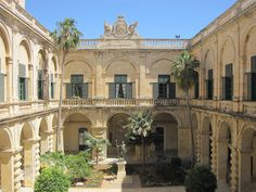 Neptune Courtyard at the Grandmaster's Palace in Valletta.