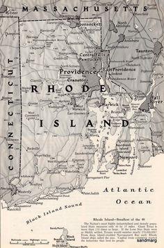Rhode Island Map//early klefford