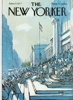 The New Yorker - Monday, June 27, 1977 - Issue # 2732 - Vol. 53 - N° 19 - Cover by : Arthur Getz