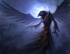 Croax leve l1: The Raven Mage, Marcel Gröber on ArtStation at https://www.artstation.com/artwork/croax-level1-the-raven-mage