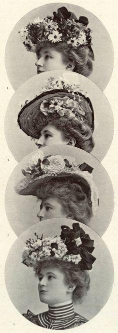 1901 May, Les Modes Paris - Hats of the season by Maison Nouvelle