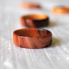 Yew Wooden Ring by Inspired To Make $20