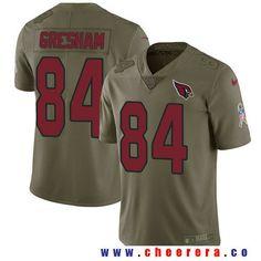 Men's Arizona Cardinals #84 Jermaine Gresham Olive 2017 Salute To Service Stitched NFL Nike Limited Jersey