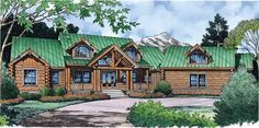 Eplans Log Houses House Plan - Rustic Refinement - 3882 Square Feet and 4 Bedrooms from Eplans - House Plan Code HWEPL11308...The Most perfect house in the whole world