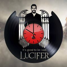 Lucifer Handmade Vinyl Record Wall Clock Fan gift - VINYL CLOCKS
