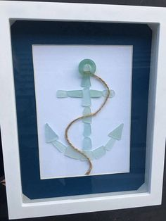 Sea Glass Art Maine Sea Glass Pebble Art Genuine Sea Glass