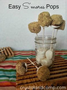 For when a fire is just not going to happen.  Summer Activities for Kids: S'mores Pops