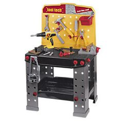 Super sturdy, so realistic…kids can't resist this just-like-Dad's toy workbench!