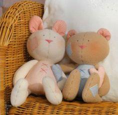 teddy bear and bunny rabbit pattern