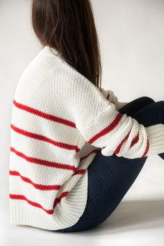 the Mariniere knitted sweater breton striped by videoclothing