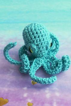 Afghan Crochet Patterns, Crochet Stitches, Octopus Crochet Pattern, Crochet Animal Patterns, Stuffed Animal Patterns, Knitting Patterns, Free Crochet, Crochet Hats, Crochet Beanie